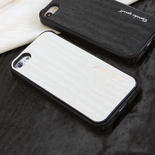 DPARKS SILKY WAVE LEATHER COVER - 베이지웨이브