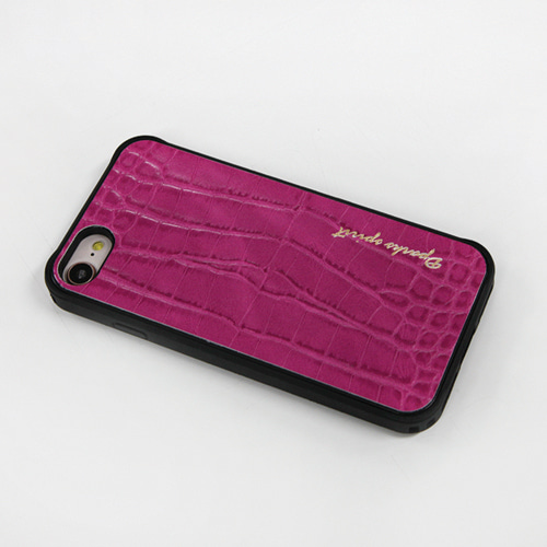 CROCO GLOSS  LEATHER COVER - 핑크글로스